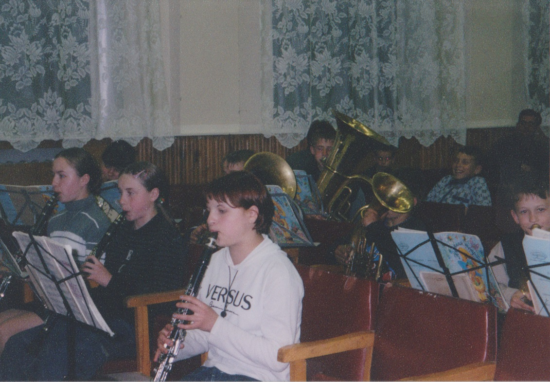 Musical instruments for Russian orphans.